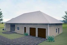 Home Plan - Traditional Exterior - Rear Elevation Plan #44-163