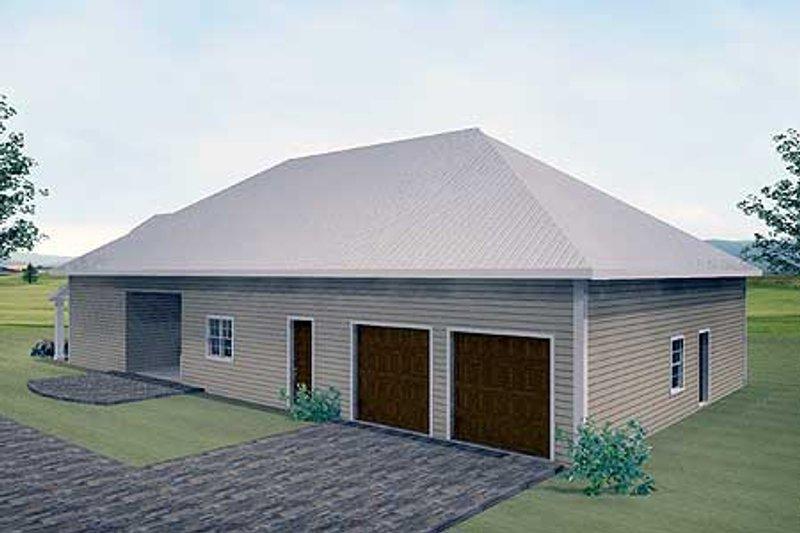 Traditional Exterior - Rear Elevation Plan #44-163 - Houseplans.com