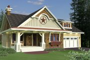 Craftsman Style House Plan - 3 Beds 2 Baths 1807 Sq/Ft Plan #51-551 Exterior - Front Elevation