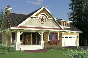 Craftsman Exterior - Front Elevation Plan #51-551