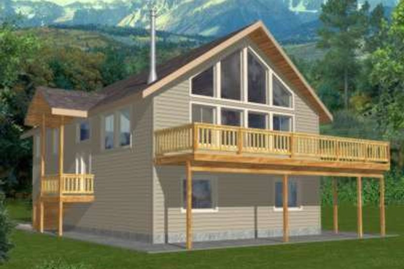 Modern Style House Plan - 3 Beds 2.5 Baths 1811 Sq/Ft Plan #117-469 Exterior - Front Elevation
