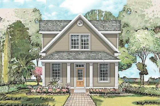 Farmhouse Exterior - Front Elevation Plan #424-203