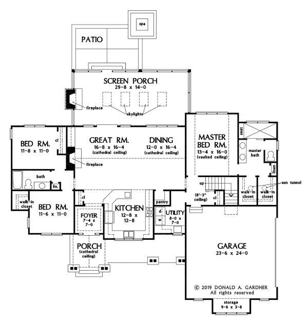 Ranch Floor Plan - Main Floor Plan #929-1089