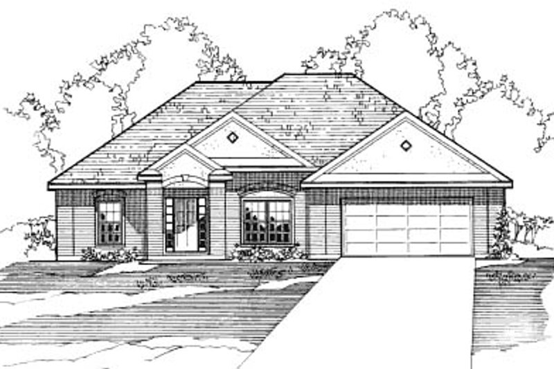 Traditional Exterior - Front Elevation Plan #31-122 - Houseplans.com
