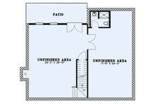 Craftsman Floor Plan - Lower Floor Plan Plan #17-3427