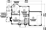 Traditional Style House Plan - 3 Beds 1 Baths 2332 Sq/Ft Plan #25-4795 Floor Plan - Main Floor Plan