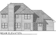 Traditional Style House Plan - 3 Beds 2.5 Baths 2210 Sq/Ft Plan #70-337 Exterior - Rear Elevation