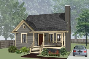 Architectural House Design - Cottage Exterior - Front Elevation Plan #79-155