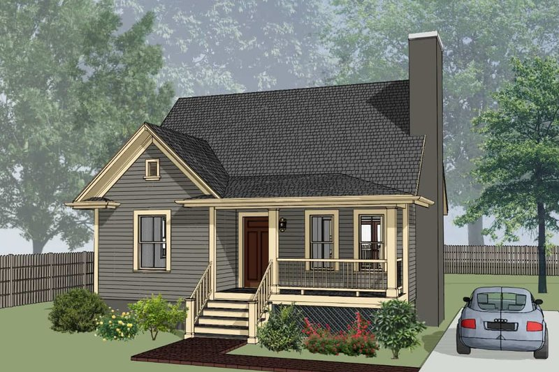 Cottage Exterior - Front Elevation Plan #79-155