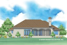 House Plan Design - Mediterranean Exterior - Rear Elevation Plan #930-478