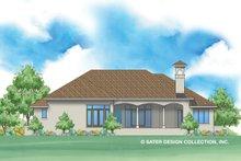 Home Plan - Mediterranean Exterior - Rear Elevation Plan #930-478
