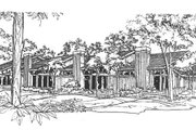 Contemporary Style House Plan - 1 Beds 2 Baths 4720 Sq/Ft Plan #320-310 Exterior - Front Elevation