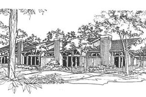 Contemporary Exterior - Front Elevation Plan #320-310