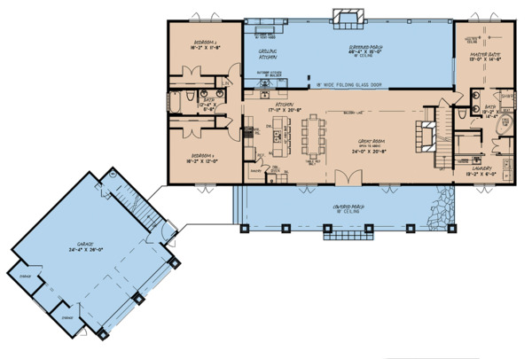 Country Floor Plan - Main Floor Plan Plan #923-127