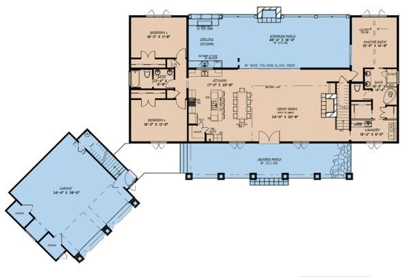 House Plan Design - Country Floor Plan - Main Floor Plan #923-127