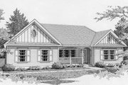 Traditional Style House Plan - 2 Beds 1 Baths 1096 Sq/Ft Plan #112-102
