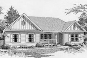 Traditional Exterior - Front Elevation Plan #112-102