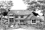 Traditional Style House Plan - 4 Beds 3 Baths 3002 Sq/Ft Plan #50-162 Exterior - Front Elevation
