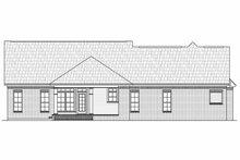 Architectural House Design - European Exterior - Rear Elevation Plan #21-242