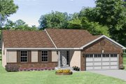 Ranch Style House Plan - 3 Beds 2 Baths 1233 Sq/Ft Plan #116-240 Exterior - Front Elevation