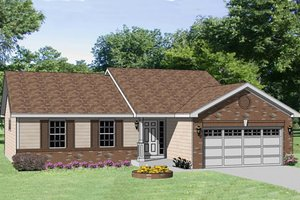 Ranch Exterior - Front Elevation Plan #116-240