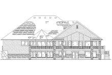 House Plan Design - European Exterior - Rear Elevation Plan #5-361