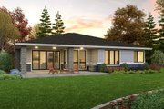 Contemporary Style House Plan - 3 Beds 2 Baths 1821 Sq/Ft Plan #48-1036 Exterior - Rear Elevation