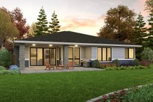 Home Plan - Contemporary Exterior - Rear Elevation Plan #48-1036
