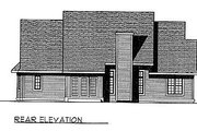 Traditional Style House Plan - 3 Beds 2 Baths 1814 Sq/Ft Plan #70-212 Exterior - Rear Elevation