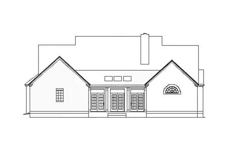 Southern Exterior - Rear Elevation Plan #406-113 - Houseplans.com