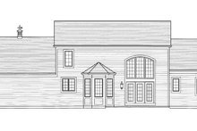 Dream House Plan - Traditional Exterior - Rear Elevation Plan #46-427