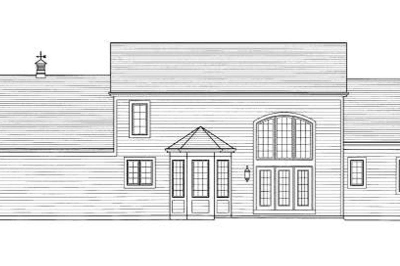 Traditional Exterior - Rear Elevation Plan #46-427 - Houseplans.com