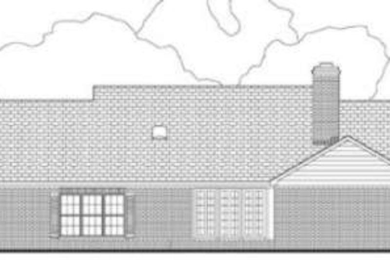Southern Exterior - Rear Elevation Plan #406-147 - Houseplans.com