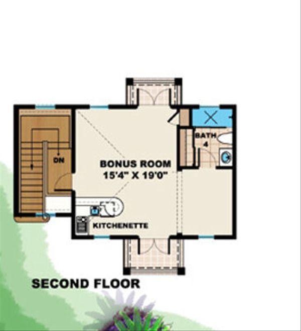 Mediterranean Floor Plan - Upper Floor Plan Plan #27-377