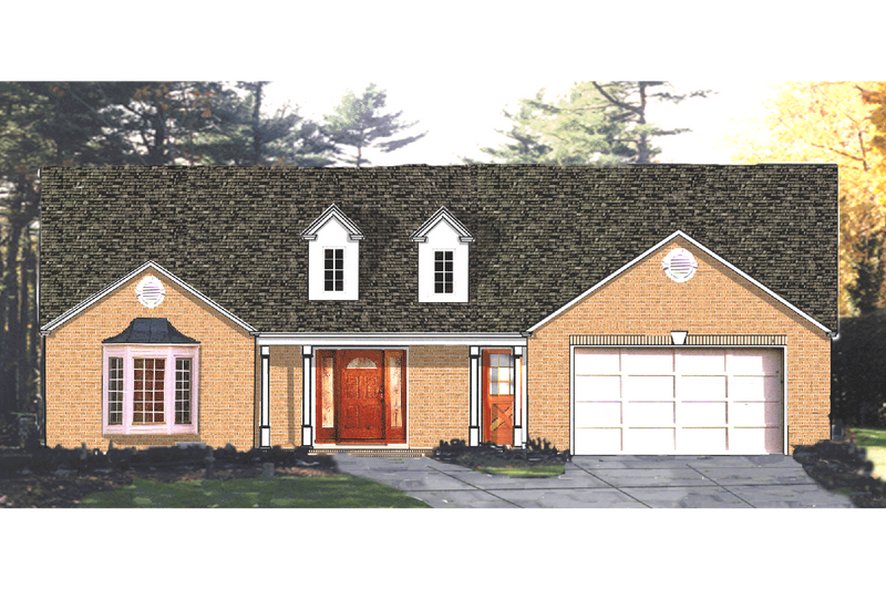 Ranch Exterior - Front Elevation Plan #3-125