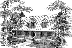 Country Exterior - Front Elevation Plan #10-207