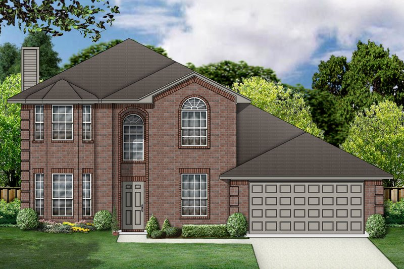 Traditional Exterior - Front Elevation Plan #84-386 - Houseplans.com