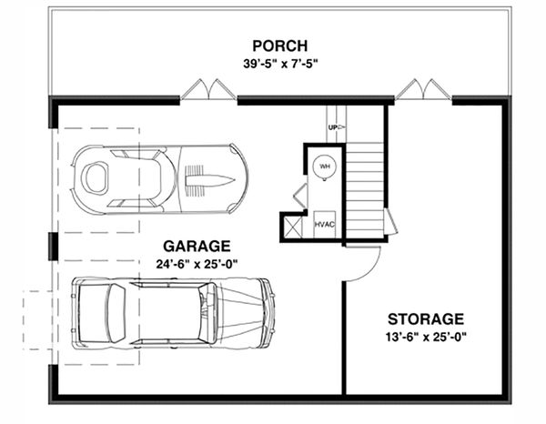 Cottage Floor Plan - Lower Floor Plan Plan #56-627