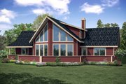 Contemporary Style House Plan - 3 Beds 2.5 Baths 2063 Sq/Ft Plan #124-1095 Exterior - Rear Elevation