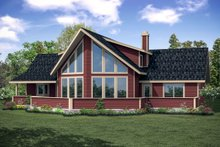 Architectural House Design - Contemporary Exterior - Rear Elevation Plan #124-1095