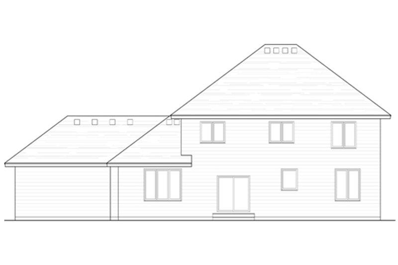 Traditional Exterior - Rear Elevation Plan #51-389 - Houseplans.com