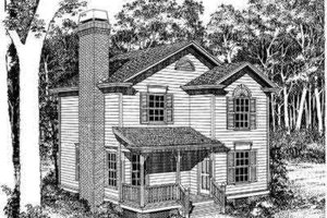 Traditional Exterior - Front Elevation Plan #322-126