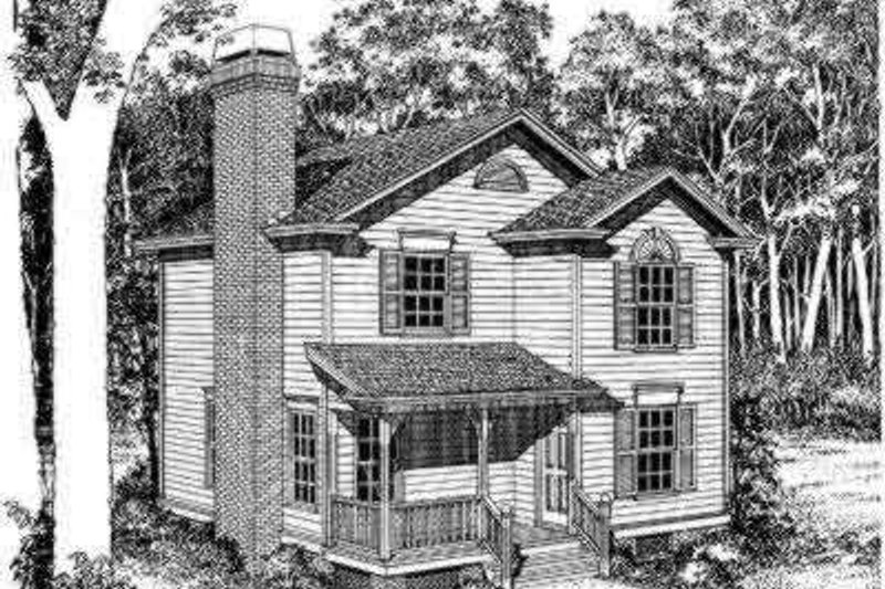 Traditional Style House Plan - 3 Beds 2.5 Baths 1232 Sq/Ft Plan #322-126 Exterior - Front Elevation