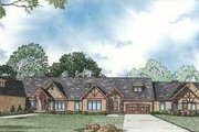 Craftsman Style House Plan - 3 Beds 2 Baths 6507 Sq/Ft Plan #17-2299 Exterior - Front Elevation