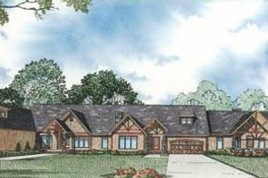 Craftsman Exterior - Front Elevation Plan #17-2299