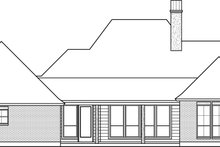 Southern Exterior - Rear Elevation Plan #1074-19