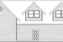 House Plan Design - Traditional Exterior - Rear Elevation Plan #117-357