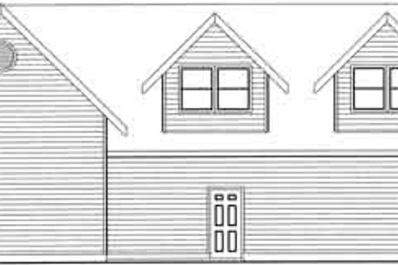 Traditional Exterior - Rear Elevation Plan #117-357 - Houseplans.com