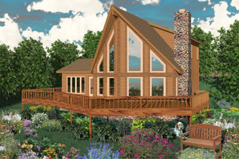 Contemporary Style House Plan - 3 Beds 2 Baths 1850 Sq/Ft Plan #81-13644 Exterior - Front Elevation