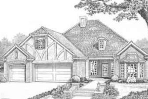 Tudor Exterior - Front Elevation Plan #310-356